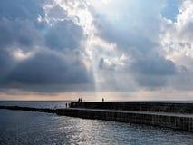 Luce di mattina al Cobb fotografia stock