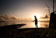 Luce di mattina dalla baia Immagini Stock