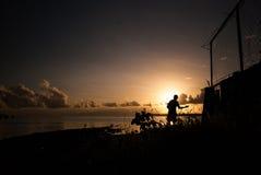 Luce di mattina dalla baia Fotografia Stock