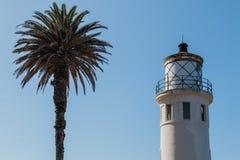 Luce di mattina su punto Vicente Lighthouse in California Fotografia Stock Libera da Diritti