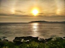 Luce di mattina sulla spiaggia Fotografia Stock