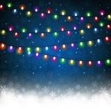 Luce di Natale Immagini Stock Libere da Diritti