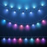 Luce di Natale Fotografia Stock