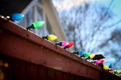 Luce di Natale al sole Fotografia Stock