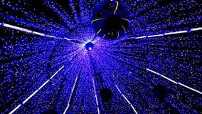 Luce di Natale magica di filatura dall'interno dell'albero archivi video