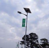 Luce di palo alimentato solare Fotografia Stock