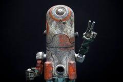 Luce di qualità dello studio del robot di emozione del metallo di Sharped fotografia stock