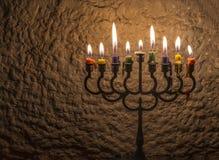 Luce di scintillio delle candele immagini stock