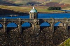Luce di sera del bacino idrico e di Craig Goch Dam, autunno di caduta Immagine Stock Libera da Diritti