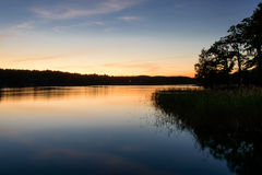 Luce di sera nell'arcipelago di Stoccolma Fotografia Stock