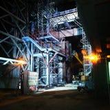 luce di sicurezza di notte della pianta del lavoro immagine stock libera da diritti