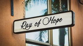 Luce di speranza del segno fotografia stock