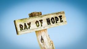 Luce di speranza del segno immagine stock