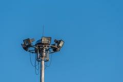 Luce di sport con chiaro cielo blu Immagine Stock Libera da Diritti