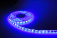 Luce di striscia blu del LED Fotografia Stock