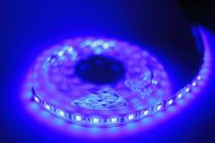 Luce di striscia blu del LED Fotografie Stock Libere da Diritti