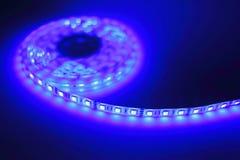 Luce di striscia blu del LED Immagine Stock Libera da Diritti