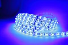 Luce di striscia blu del LED Immagine Stock