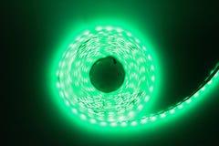 Luce di striscia verde del LED Immagini Stock Libere da Diritti