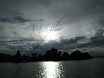 Luce di Sun al tramonto in Tailandia Fotografia Stock Libera da Diritti