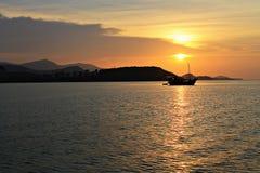 Luce di Sun sull'oceano Fotografia Stock