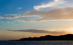Luce di tramonto Fotografie Stock