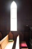 Luce divina in una chiesa Immagini Stock