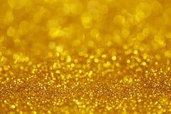 Luce dorata di scintillio fotografia stock libera da diritti