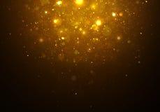 Luce dorata magica delle stelle Fotografia Stock