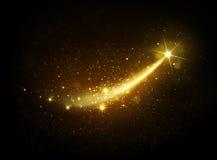 Luce dorata magica delle stelle Fotografie Stock Libere da Diritti