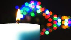 Luce e bokeh della candela archivi video