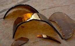 Luce e buio di riflessione di vetro rotti Fotografie Stock