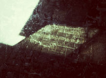 Luce ed ombra sulla falda Fotografia Stock Libera da Diritti