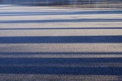 Luce ed ombre Fondo delle nature di inverno Immagini Stock
