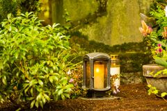 Luce eterna sul cimitero, Fotografie Stock