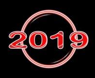 Luce fluorescente 2019 Immagini Stock Libere da Diritti