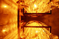 Luce gialla calda del lampsï del› luminoso del ¼ fotografia stock libera da diritti