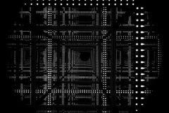Luce infinita astratta del LED con alte profondità e prospettiva Fotografie Stock
