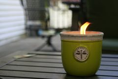 Luce intermittente della candela di estate Fotografia Stock Libera da Diritti