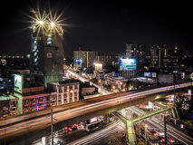 Luce lenta nell'area urbana Fotografia Stock