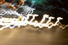 Luce lunga dell'otturatore di velocità vaga estratto sulla strada fotografia stock