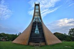 Luce Memorial Chapel al crepuscolo Immagini Stock Libere da Diritti