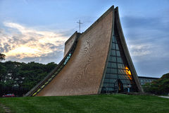 The Luce Memorial Chapel at dusk Stock Image