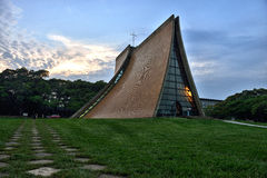 The Luce Memorial Chapel at dusk Royalty Free Stock Photo