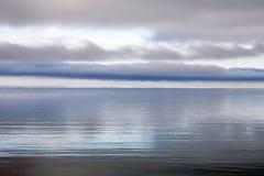 Luce molle del lago fotografia stock