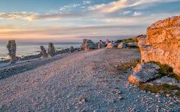 Luce nordica all'isola di Faro Fotografia Stock