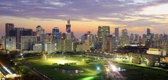 luce notturna a Bangkok Fotografia Stock