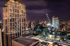 Luce notturna Bangkok bella Fotografia Stock