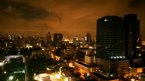 Luce notturna di Bangkok Fotografia Stock Libera da Diritti