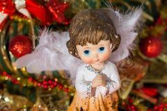 Luce orizontal di Angel Christmas Fotografie Stock Libere da Diritti